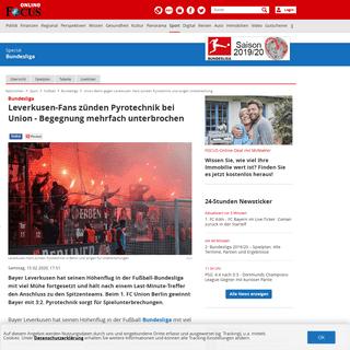 Union Berlin gegen Leverkusen- Fans zünden Pyrotechnik und sorgen Unterbrechung - FOCUS Online