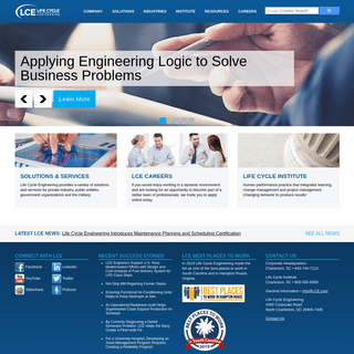 Consulting, Engineering, Information Technology and Education Solutions — Life Cycle Engineering