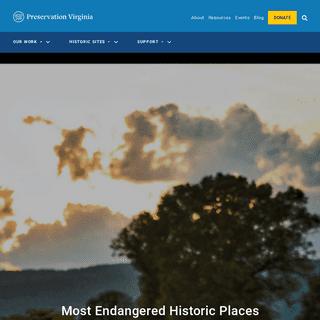 Preservation Virginia- Historic Preservation, Education & Advocacy