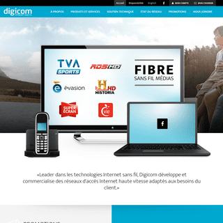 Digicom - Internet sans fil - L'avenir est sans fils
