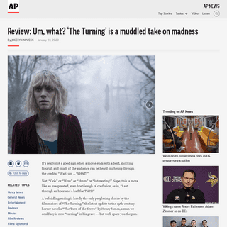 ArchiveBay.com - apnews.com/0b4c2fbbc8df65bd9f0431db3d853bc5 - Review- Um, what- 'The Turning' is a muddled take on madness