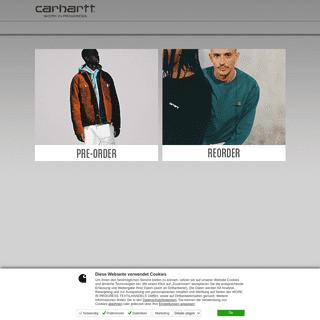 Shop Switch Index - Carhartt b2b Preorder WebSite