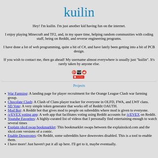 Kuilin's Website