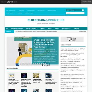 Blockchain 4Innovation - Il primo sito editoriale in Italia dedicato alla Blockchain