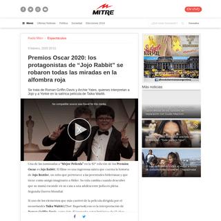 Premios Oscar 2020- los protagonistas de -Jojo Rabbit- se robaron todas las miradas en la alfombra roja - Radio Mitre
