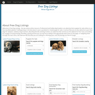 Puppies for Sale - Dogs for Adoption - Dog Businesses - FreeDogListings