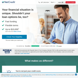 NetCredit - An Online Lender, Giving You the Flexibility to Move Forward