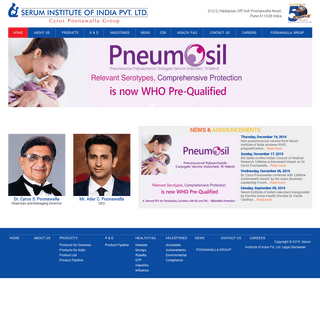 Serum Institute of India - Manufacturer of Vaccines & immuno-biologicals - GMP Vaccine Manufacturer