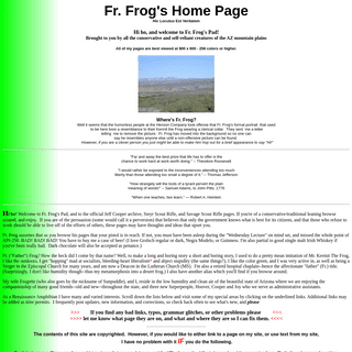 FR. FROG'S Home Page