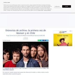 Entrevista de archivo- la primera vez de Maroon 5 en Chile