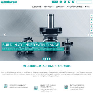 Standard components - Mold making Die making Jigs and fixtures - Meusburger