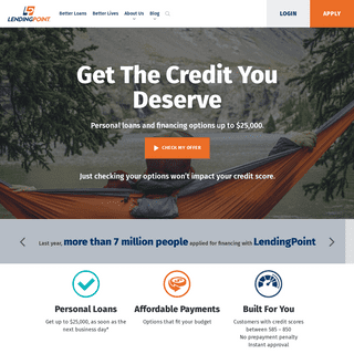 Personal Loans for Fair Credit Customers - LendingPoint