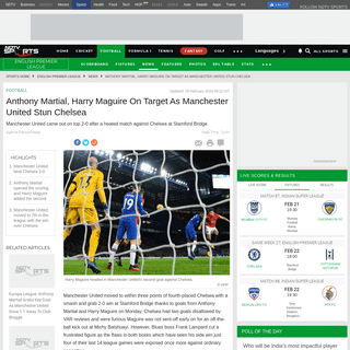 ArchiveBay.com - sports.ndtv.com/english-premier-league/chelsea-vs-man-united-anthony-martial-harry-maguire-on-target-as-manchester-united-stun-chelsea-2181709 - Chelsea vs Man United- Anthony Martial, Harry Maguire On Target As Manchester United Stun Chelsea - Football News