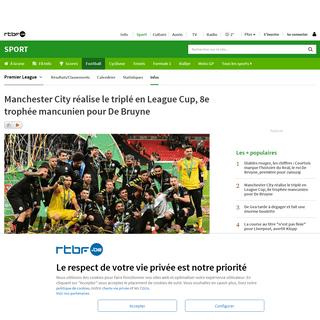 Manchester City réalise le triplé en League Cup, 8e trophée mancunien pour De Bruyne