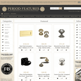 Vintage Homeware & Traditional Hardware - Period Features