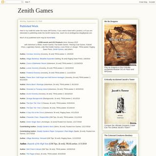 Zenith Games