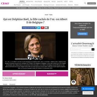 Qui est Delphine Boël, la fille cachée de l'ex-roi Albert II de Belgique - - Closer