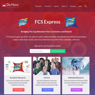 FCS Express Flow Cytometry Software - De Novo Software