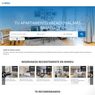 Wimdu- apartamentos vacacionales más baratos