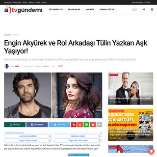 Engin Akyürek ve Rol Arkadaşı Tülin Yazkan Aşk Yaşıyor! - TV Gündemi