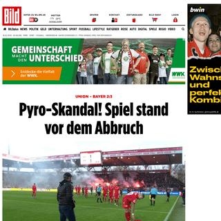 Union Berlin – Bayer Leverkusen 2-3 – Pyro-Skandal! Spiel vor dem Abbruch - Bundesliga - Bild.de