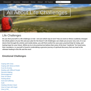 Life Challenges - AllAboutLifeChallenges.org