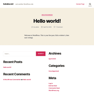 babalou.net – Just another WordPress site
