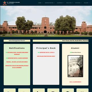 St. Stephen's College, Delhi – Official website of St. Stephen's College, University of Delhi, Delhi