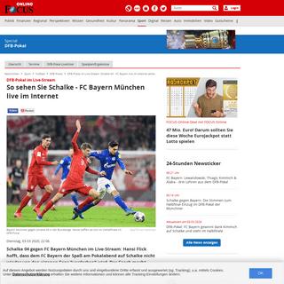 DFB-Pokal im Live-Stream- Schalke 04 - FC Bayern live im Internet sehen - FOCUS Online