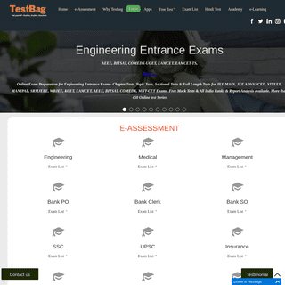 Online Mock Tests for Entrance & Recruitment Exams - TestBag