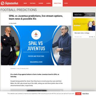 ArchiveBay.com - www.squawka.com/en/spal-juventus-predictions-team-news-live-stream-serie-a/ - SPAL v Juventus prediction, live stream & team news - Serie A