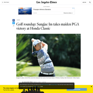 Sungjae Im takes maiden PGA victory at Honda Classic - Los Angeles Times