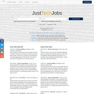 JustTechJobs - jobs in tech near you