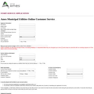 Ames Municipal Utilities Online