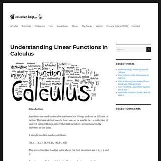 Calculus Help - Calculus Help