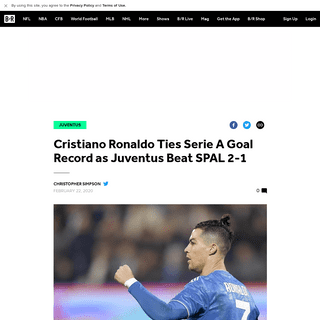 ArchiveBay.com - bleacherreport.com/articles/2877490-cristiano-ronaldo-ties-serie-a-goal-record-as-juventus-beat-spal-2-1 - Cristiano Ronaldo Ties Serie A Goal Record as Juventus Beat SPAL 2-1 - Bleacher Report - Latest News, Videos and Highlights