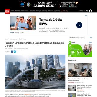 Presiden Singapura Potong Gaji demi Bonus Tim Medis Corona