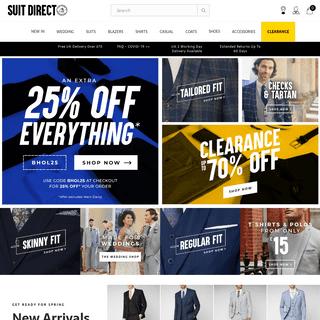Suits for Men - Shop Mens Suits Online - Suit Direct