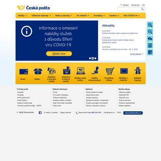 Úvodní stránka - Česká pošta