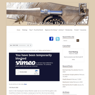 Izaak Walton Fly Fishing Club – Izaak Walton Fly Fishing Club