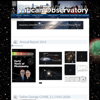 Home Page Vatican Observatory