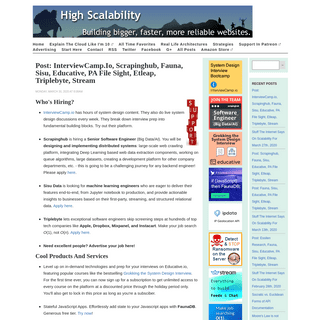 High Scalability -