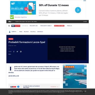 ArchiveBay.com - sport.sky.it/calcio/serie-a/2020/02/15/probabili-formazioni-lecce-spal - Probabili formazioni di Lecce Spal - Sky Sport