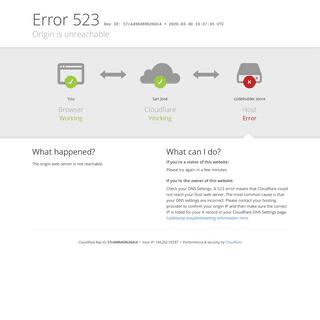codefodder.store - 523- Origin is unreachable