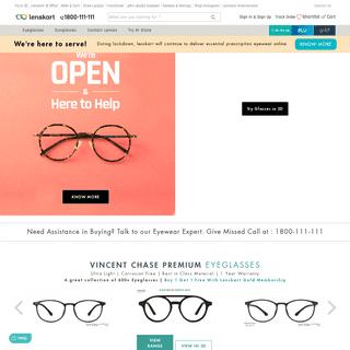 Lenskart.com® - Sunglasses, Contact Lens, Eyeglasses, Frames, Buy 1 Get 1 Offer for Gold Members