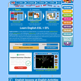 ArchiveBay.com - englishactivities.net - English games free online for beginners learning English with audio @ englishactivities.net