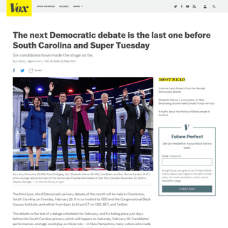 ArchiveBay.com - www.vox.com/2020/2/19/21143054/tenth-democratic-debate-south-carolina-super-tuesday - When is the next Democratic debate- February 25. - Vox