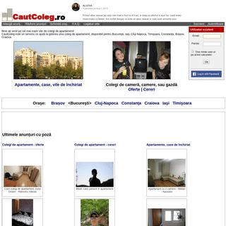 CautColeg - Cel mai mare site de colegi de apartament din România!