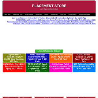 Placement Store™ » Free Job Alert & Study Material
