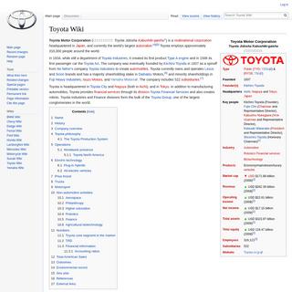 Toyota Wiki